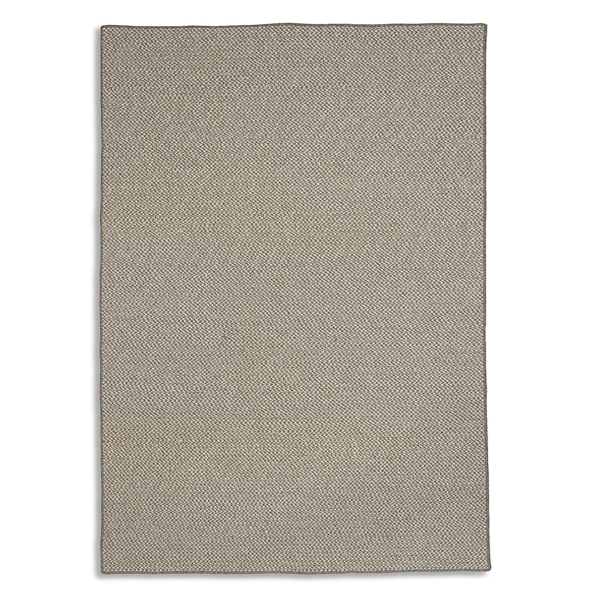 Houndstooth Wool Rug - Slate