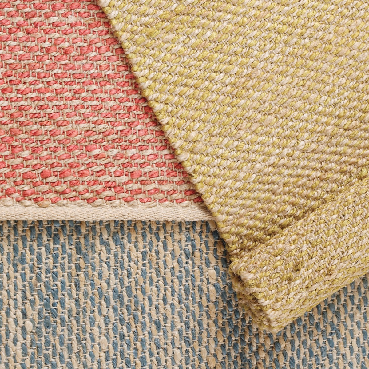 Jacinto French Blue Woven Jute Rug