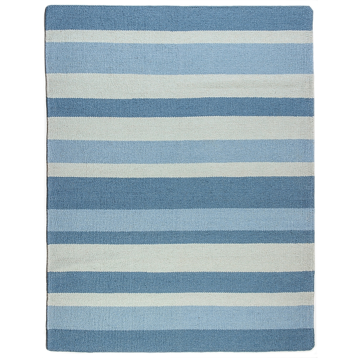 Jones Point Wool Berber Striped Rug