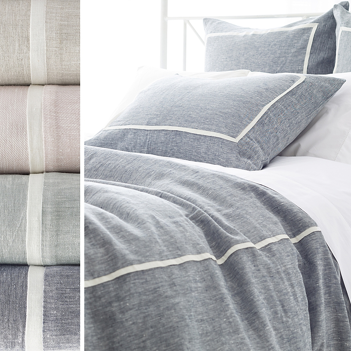 Keaton Linen Duvet Cover and Sham