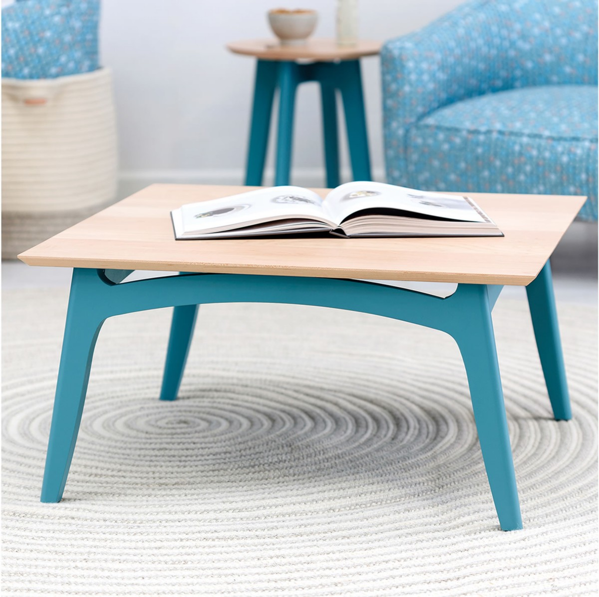 Koby Square Cocktail Table - Maple Top