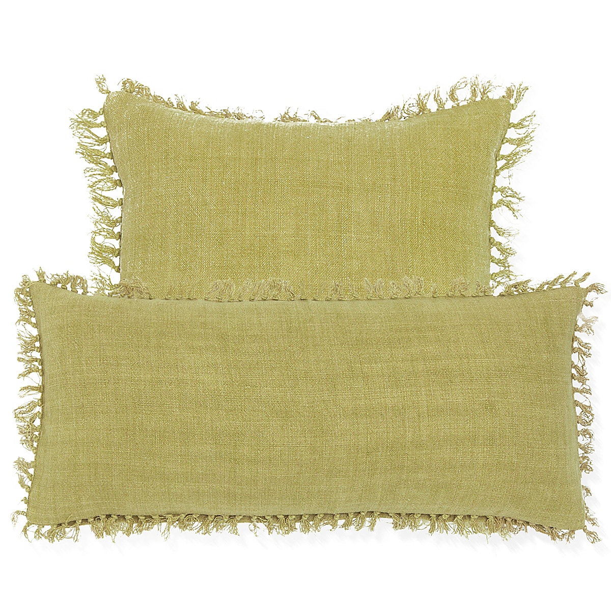 Laundered Linen Decorative Pillow