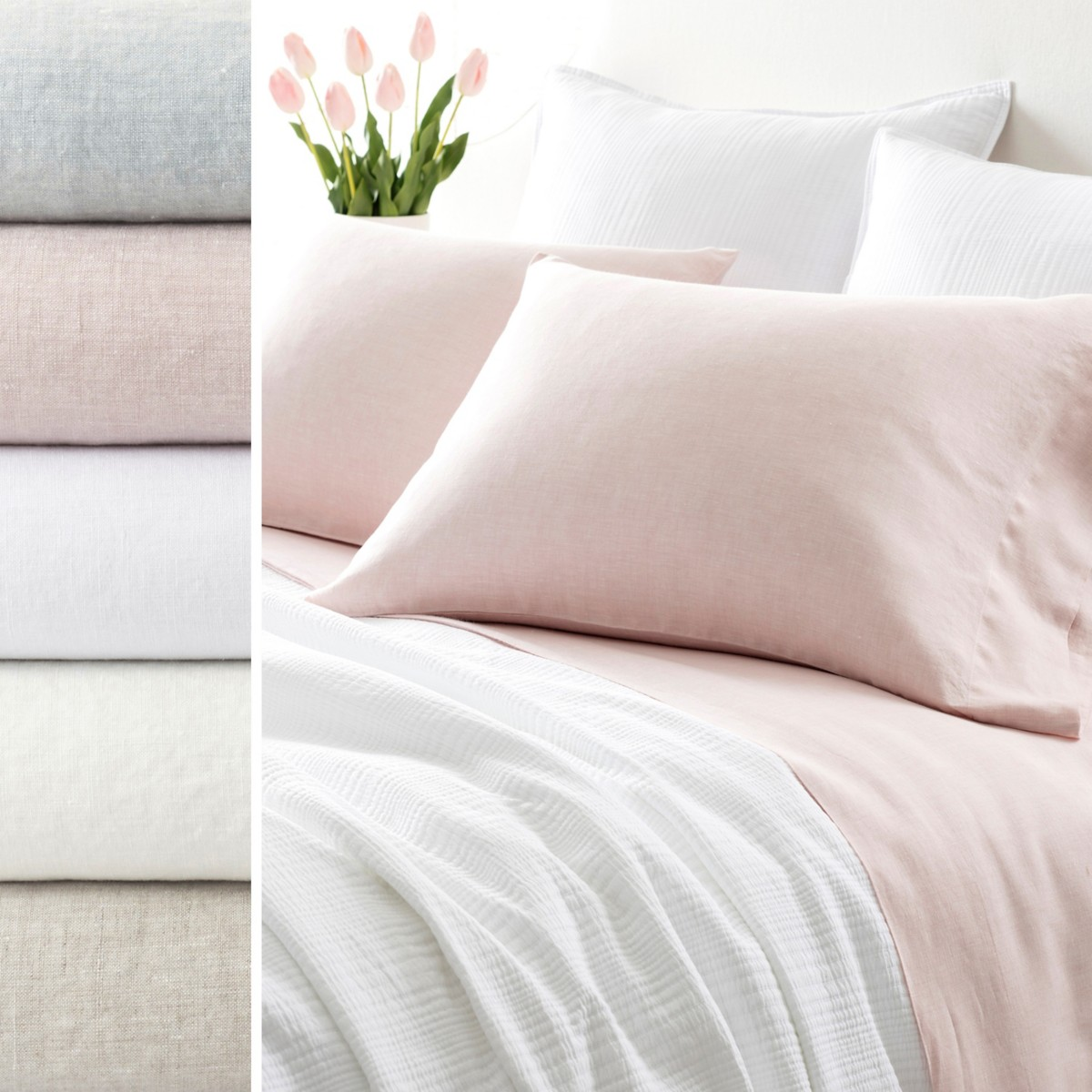 Lush Linen Sheet Set and Pillowcases