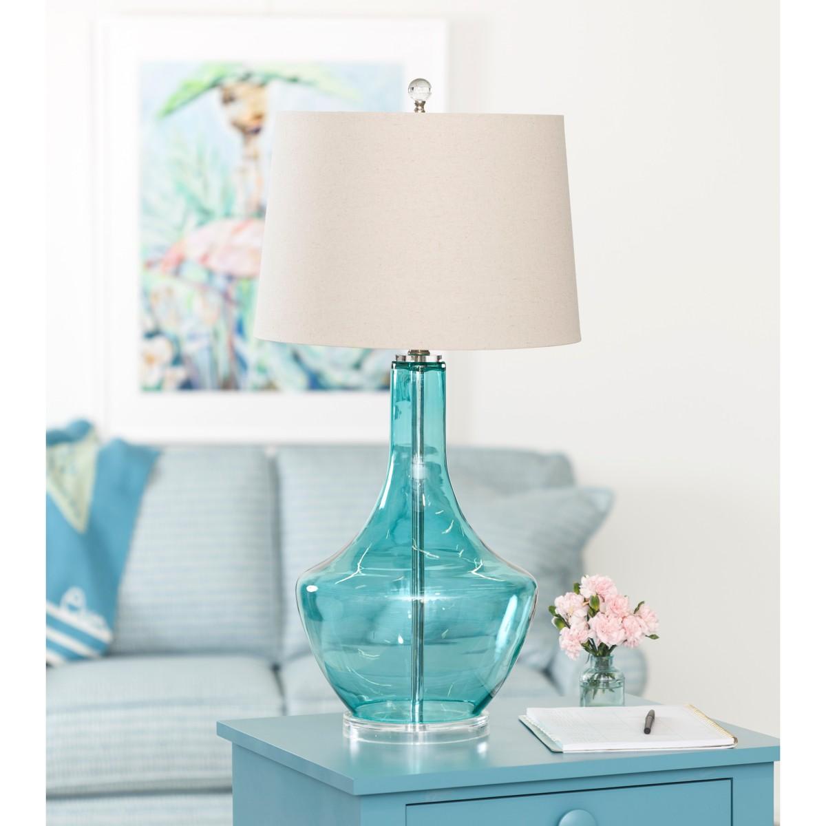 Margot Table Lamp - Blue Glass