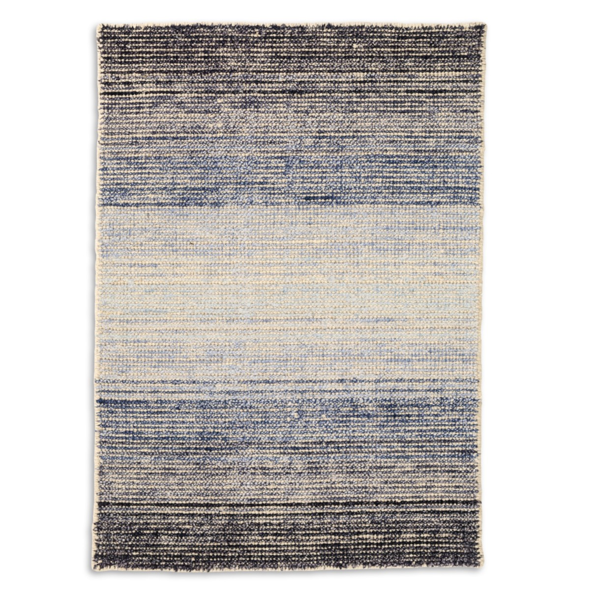 Moon Cotton Viscose Woven Rug - Blue