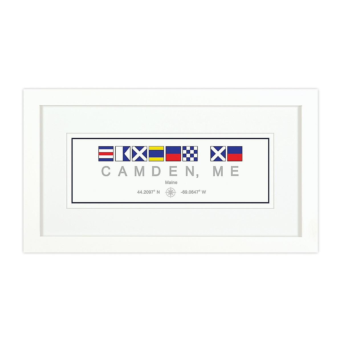 Nautical Flag Print - Camden, ME