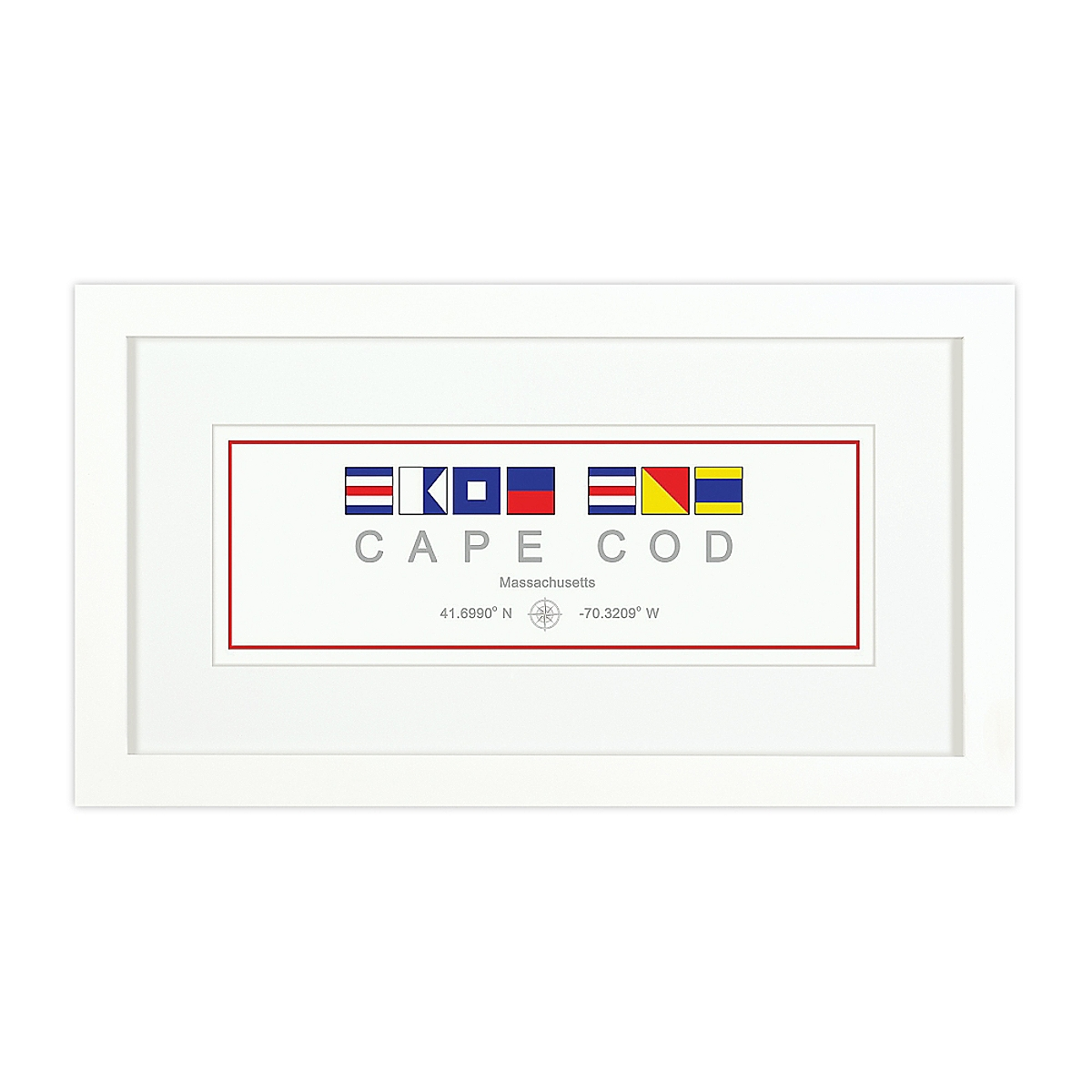 Nautical Flag Print - Cape Cod, MA