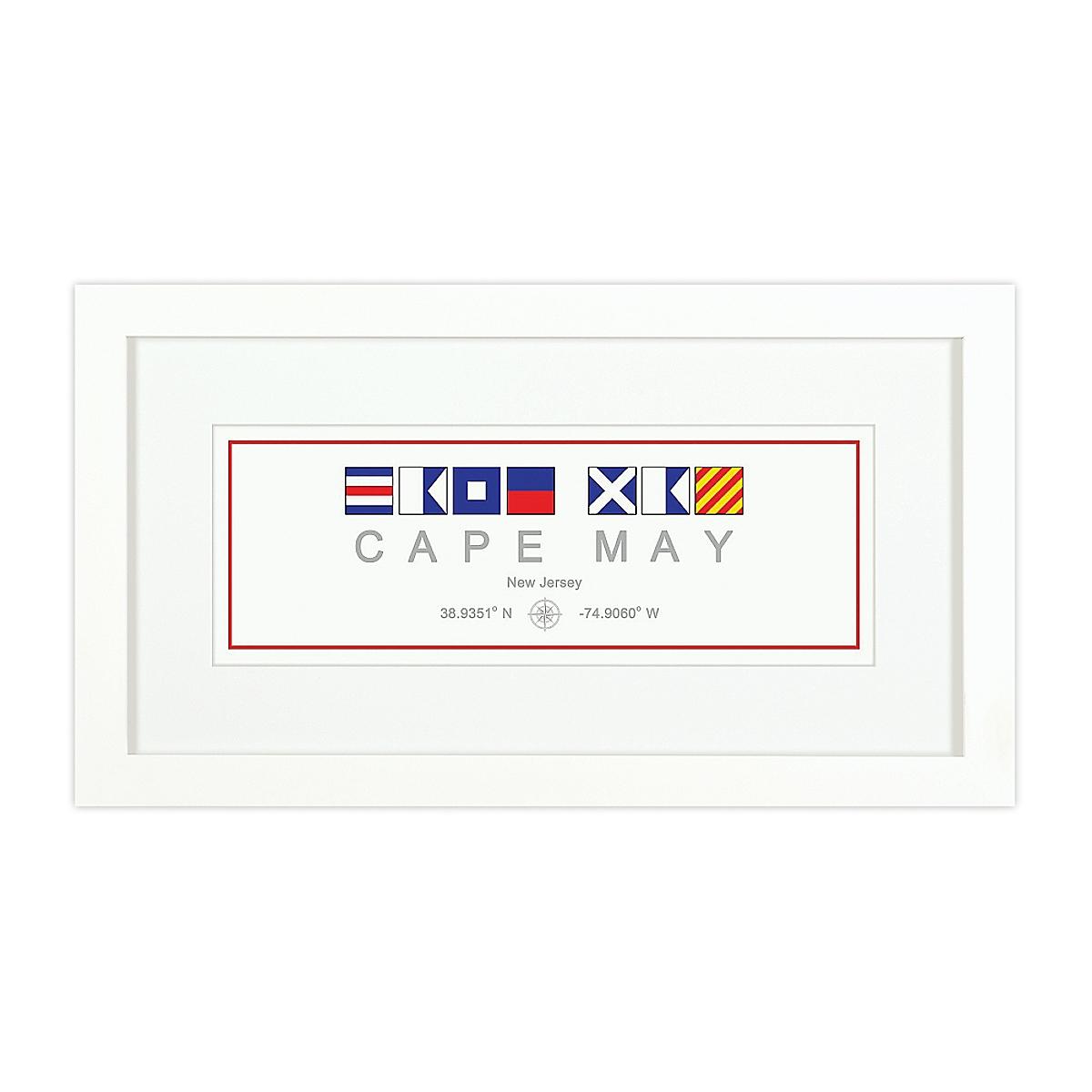 Nautical Flag Print - Cape May, NJ