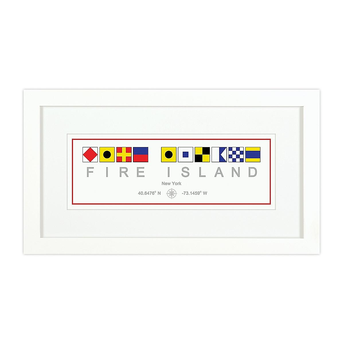 Nautical Flag Print - Fire Island, NY