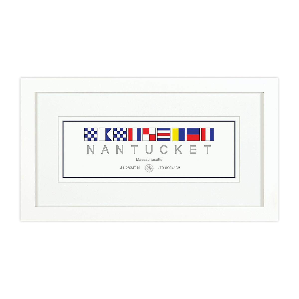 Nautical Flag Print - Nantucket, MA