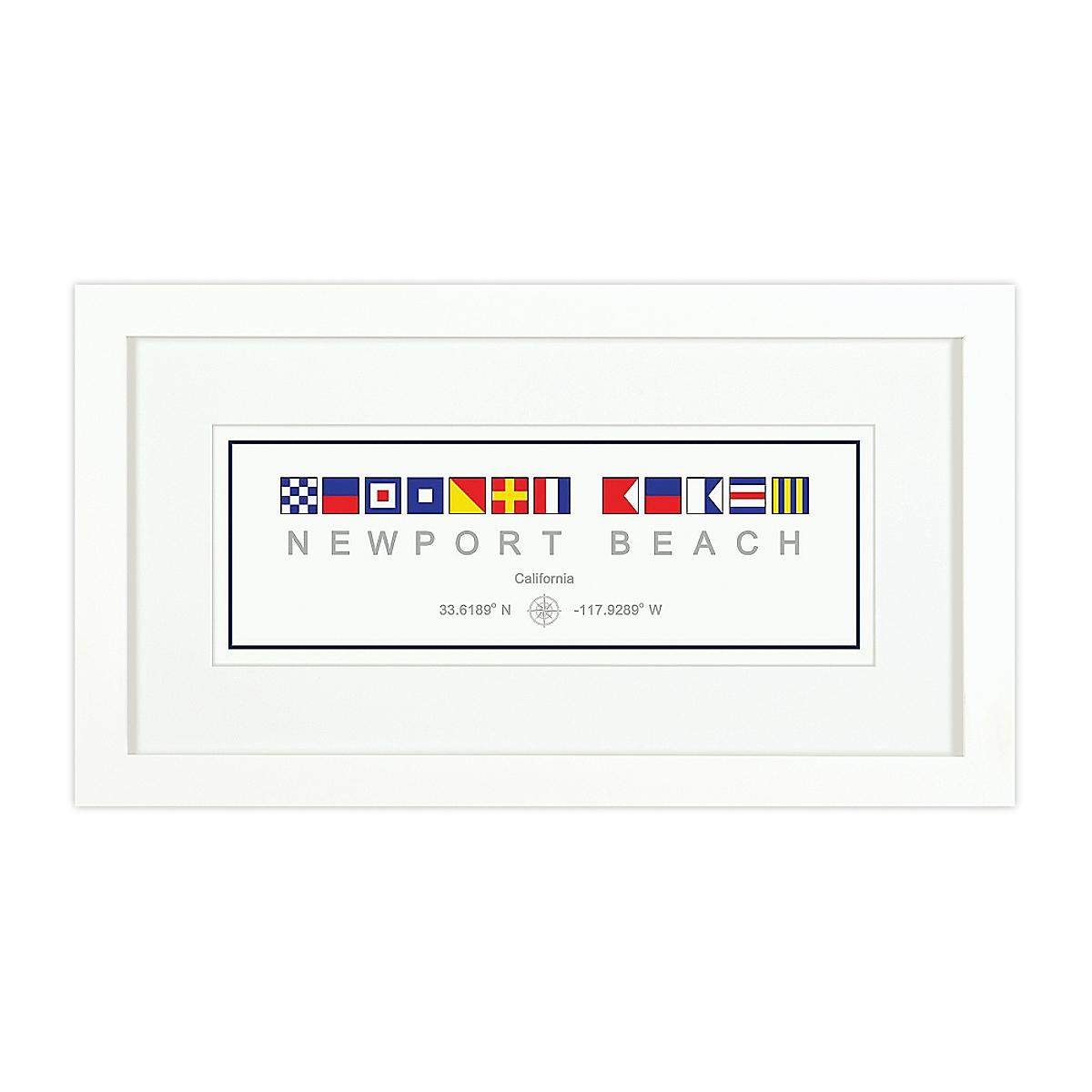 Nautical Flag Print - Newport Beach, CA