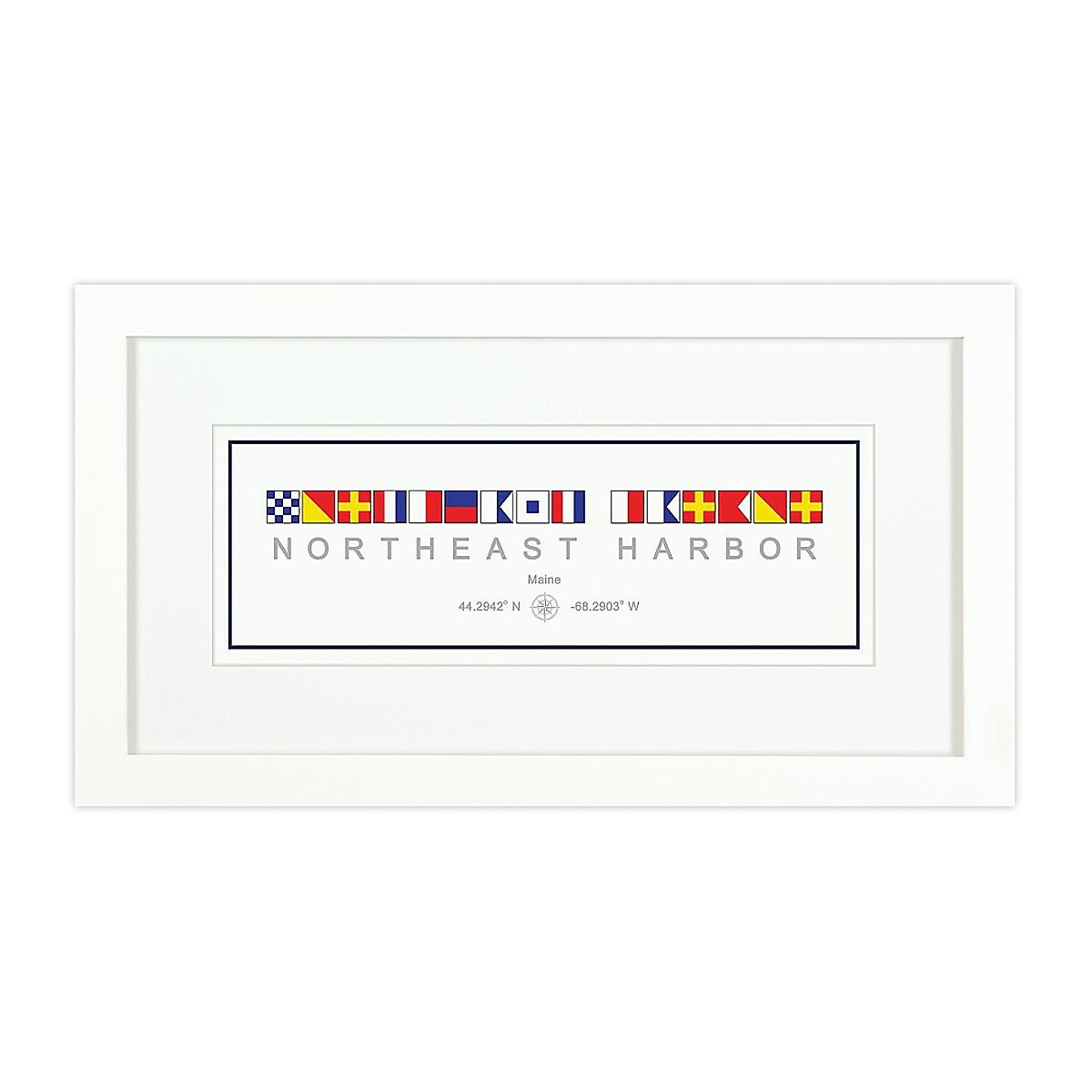 Nautical Flag Print - Northeast Harbor, ME