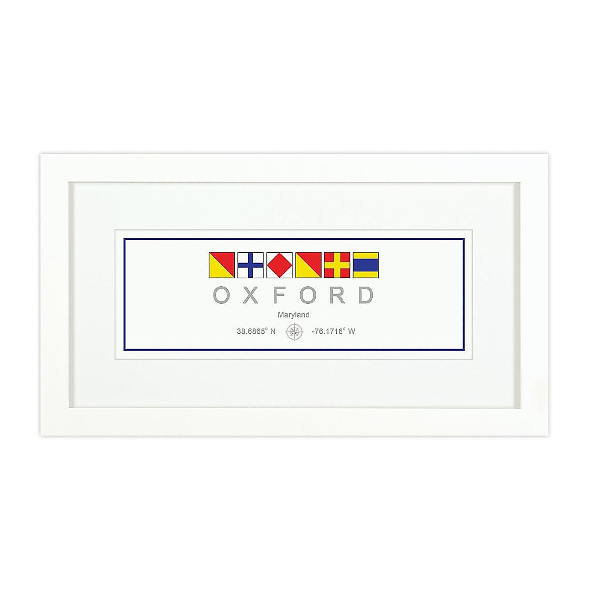 Nautical Flag Print - Oxford