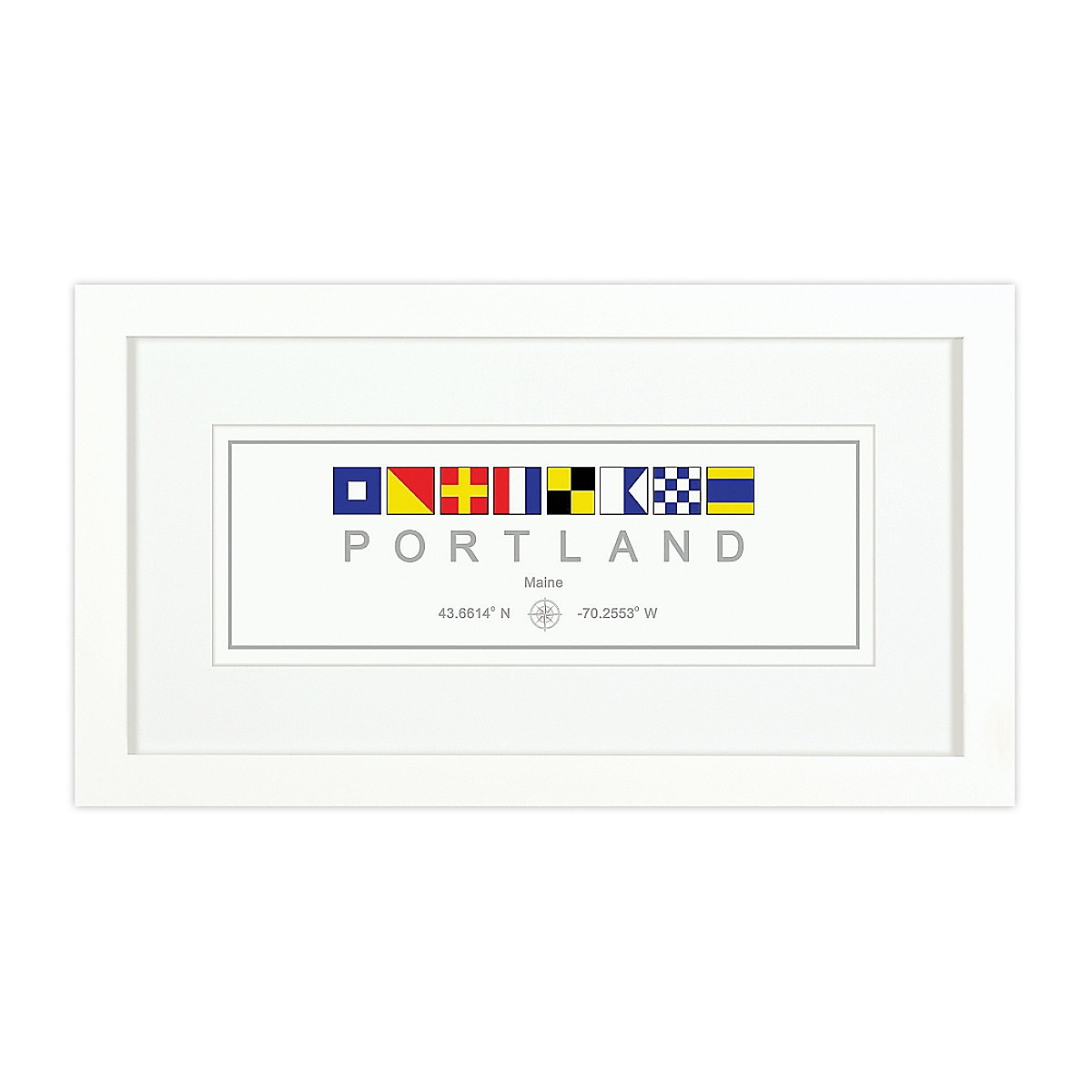 Nautical Flag Print - Portland, ME