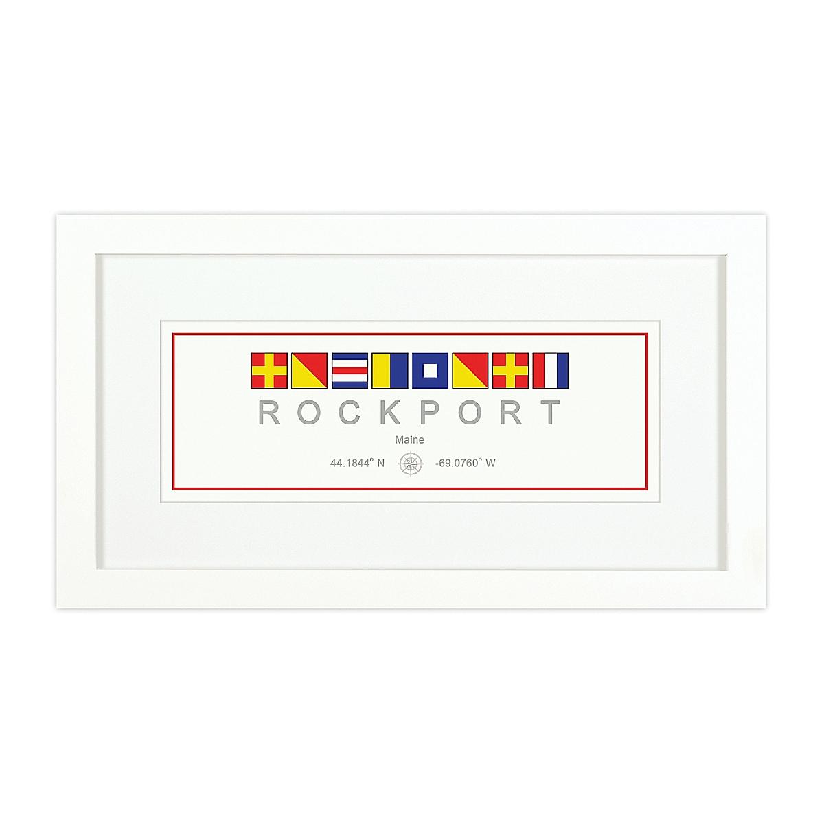Nautical Flag Print - Rockport, ME