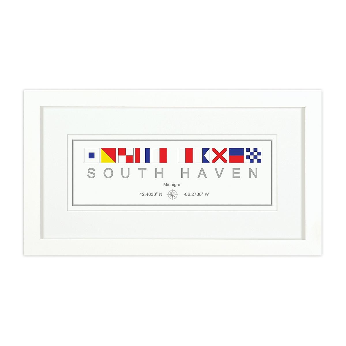 Nautical Flag Print - South Haven, MI