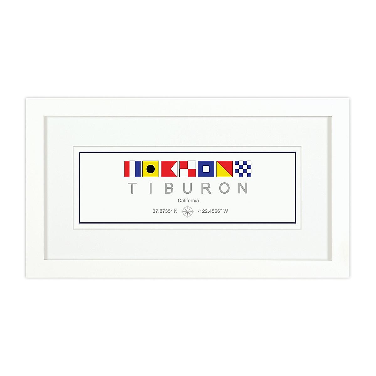 Nautical Flag Print - Tiburon, CA
