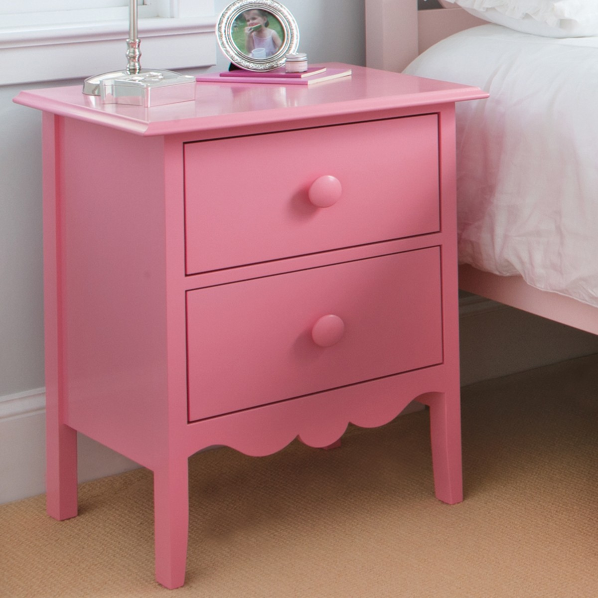 Nellie 2 Drawer Bedside Table by Maine Cottage