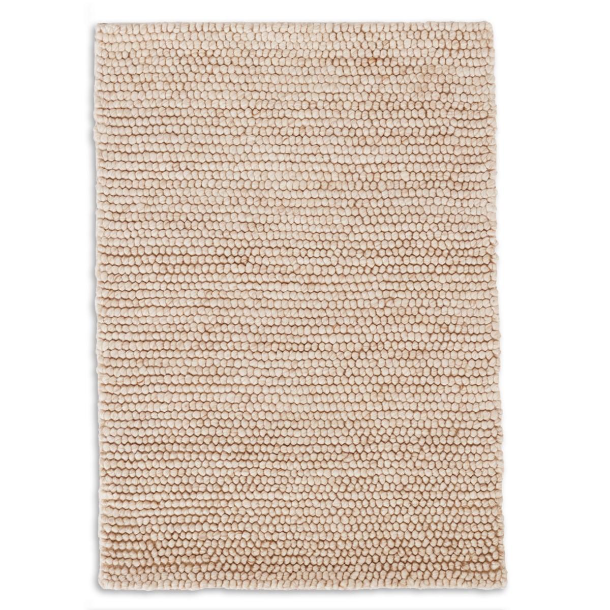 Niels Woven Wool/Viscose Rug - Latte
