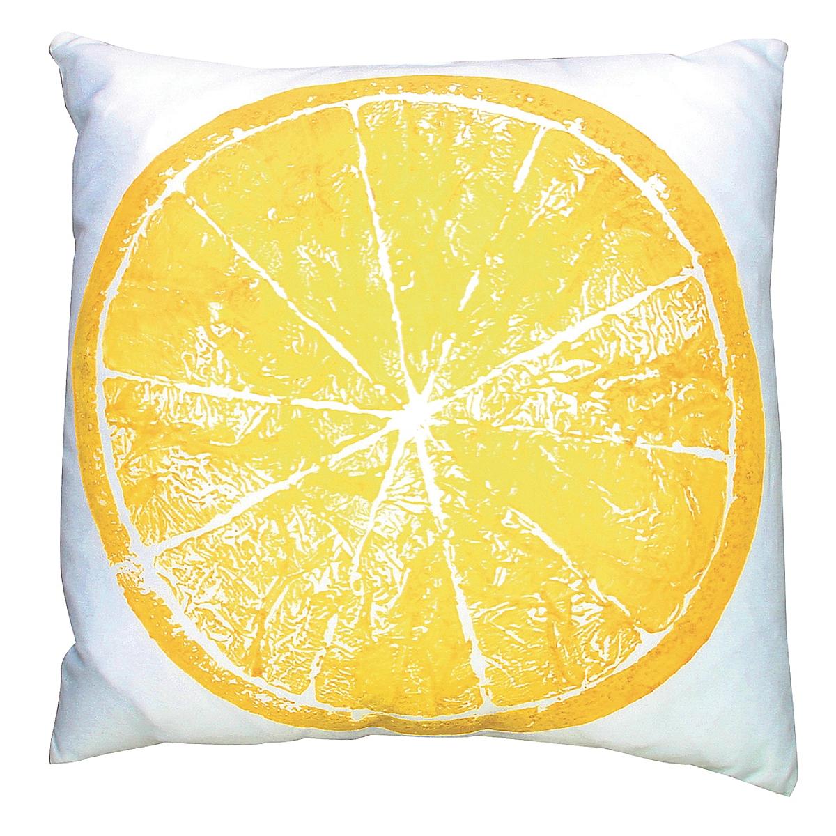 """20"""" x 20"""" - Orange Pillow on White Linen"""