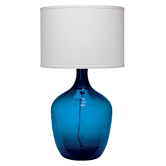 Plum jar table lamp extra large navy maine cottager for Glass jar floor lamp