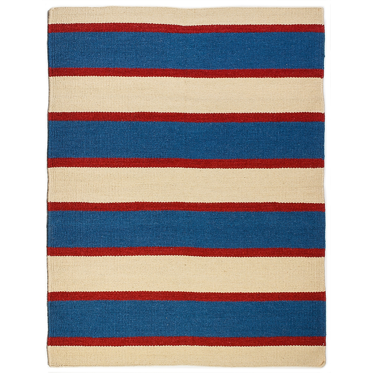 Portland Head Wool Berber Striped Rug
