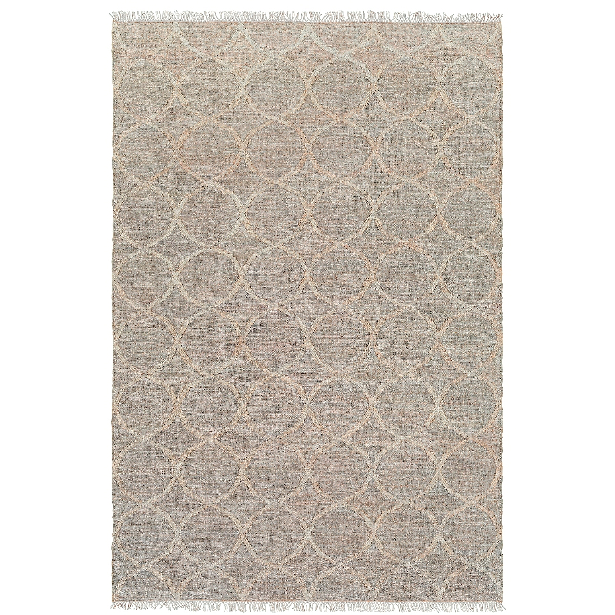 Reversible Jute Geometric Rug: Natural
