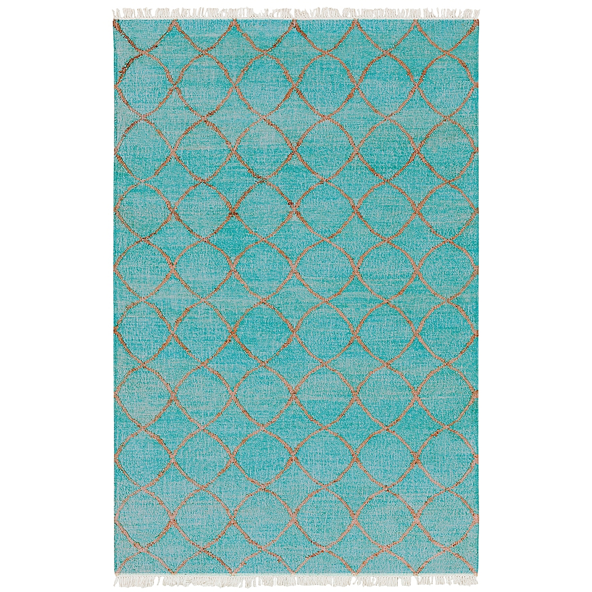 Reversible Jute Geometric Rug: Porch