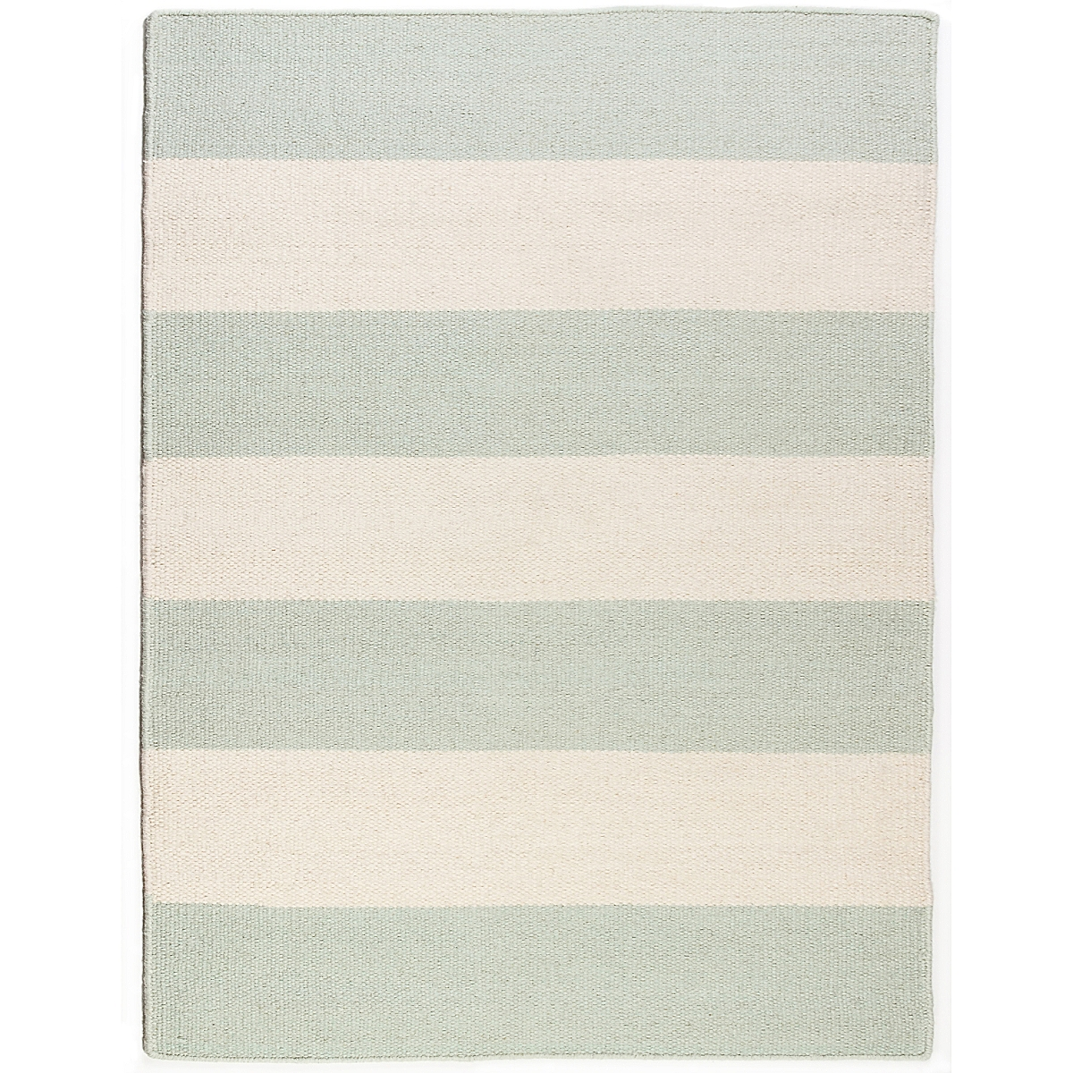 Roe Island Wool Berber Striped Rug