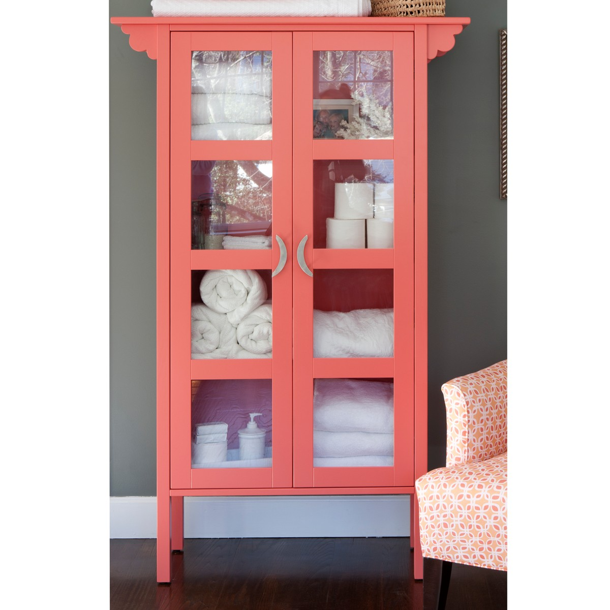 Ruby Glass Cabinet