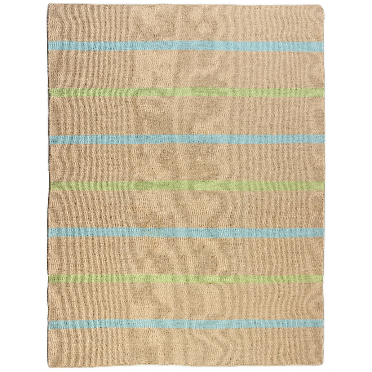 Sand Key Wool Berber Striped Rug
