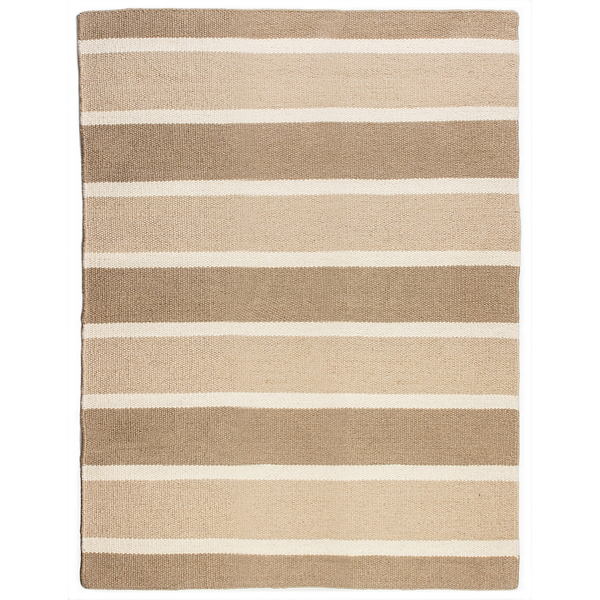 Sandy Hook Wool Berber Striped Rug