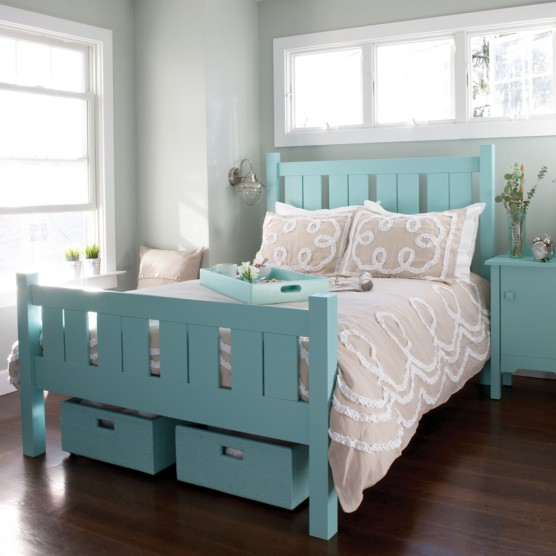 Shutter Bed By Maine Cottage Where Color Lives
