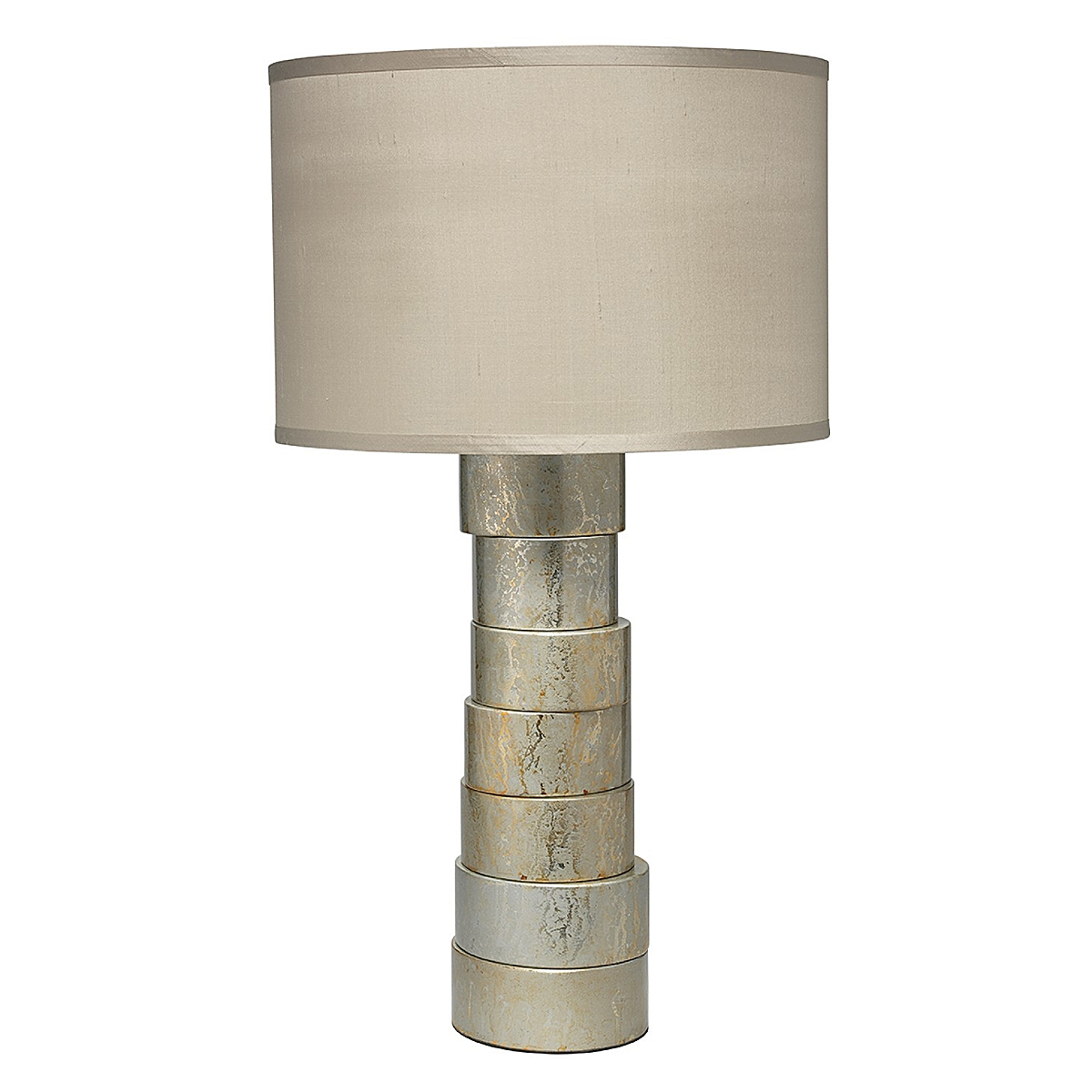 Stacked Table Lamp - Silver