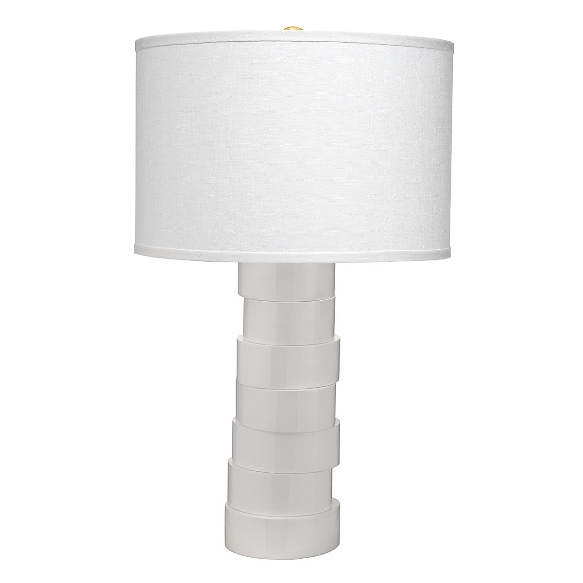 Stacked Table Lamp - White