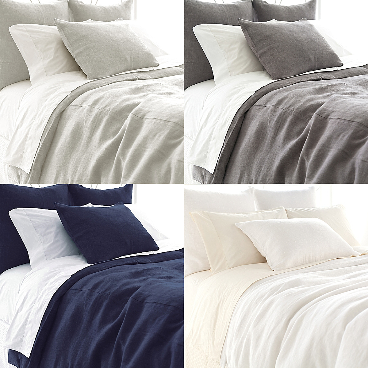Stone Washed Linen Duvet Cover and Sham