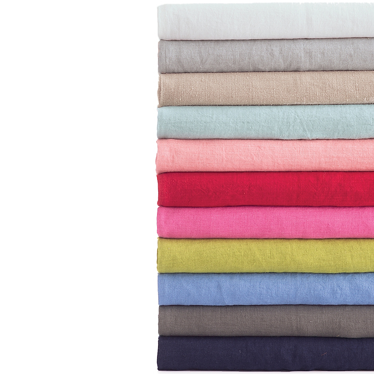 Stone Washed Linen Periwinkle Throw