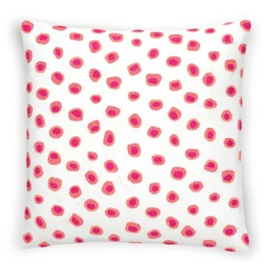 "Thumbprint Coral/Fuchsia Decorative Pillow 20"" x 20"""