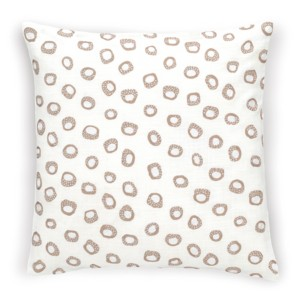 "Thumbprint Linen/White Decorative Pillow 20"" x 20"""