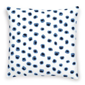 "Thumbprint Periwinkle/Indigo Decorative Pillow 20"" x 20"""