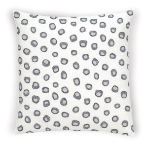 "Thumbprint Shale/Pearl Grey Decorative Pillow 20"" x 20"""