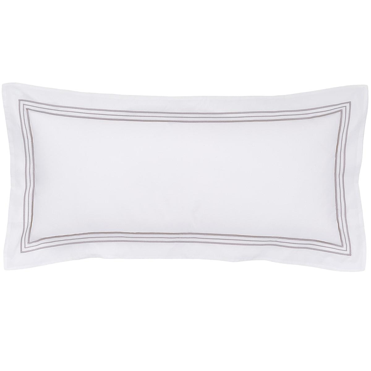 """Trio Pearl Grey Decorative Pillow 15""""x35"""""""