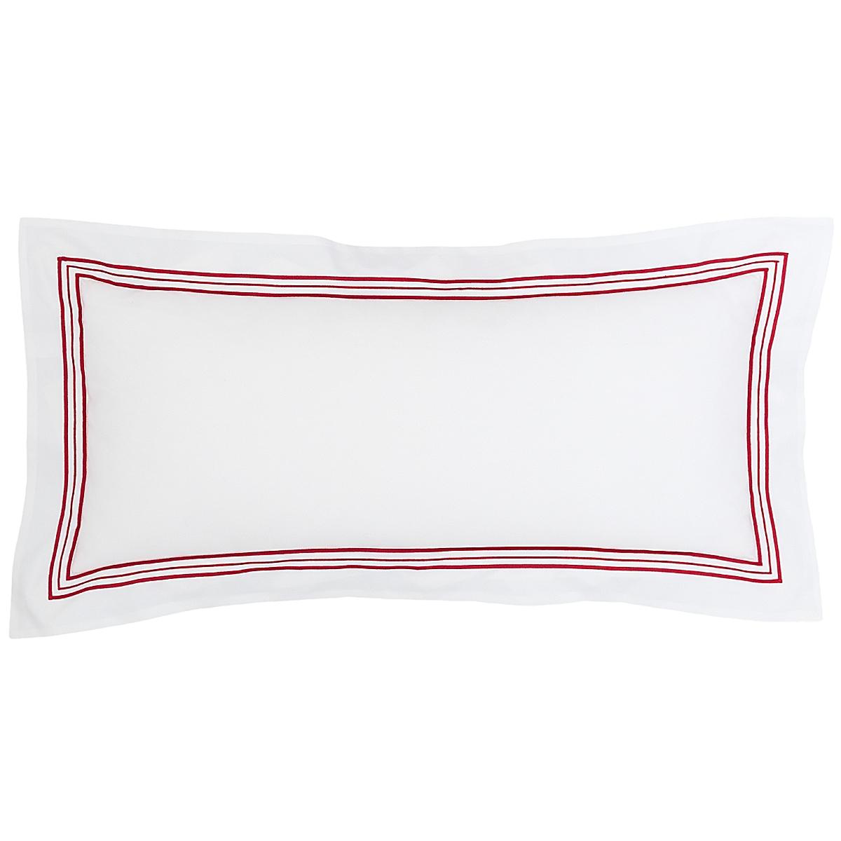 "Trio Red Decorative Pillow 15""x35"""