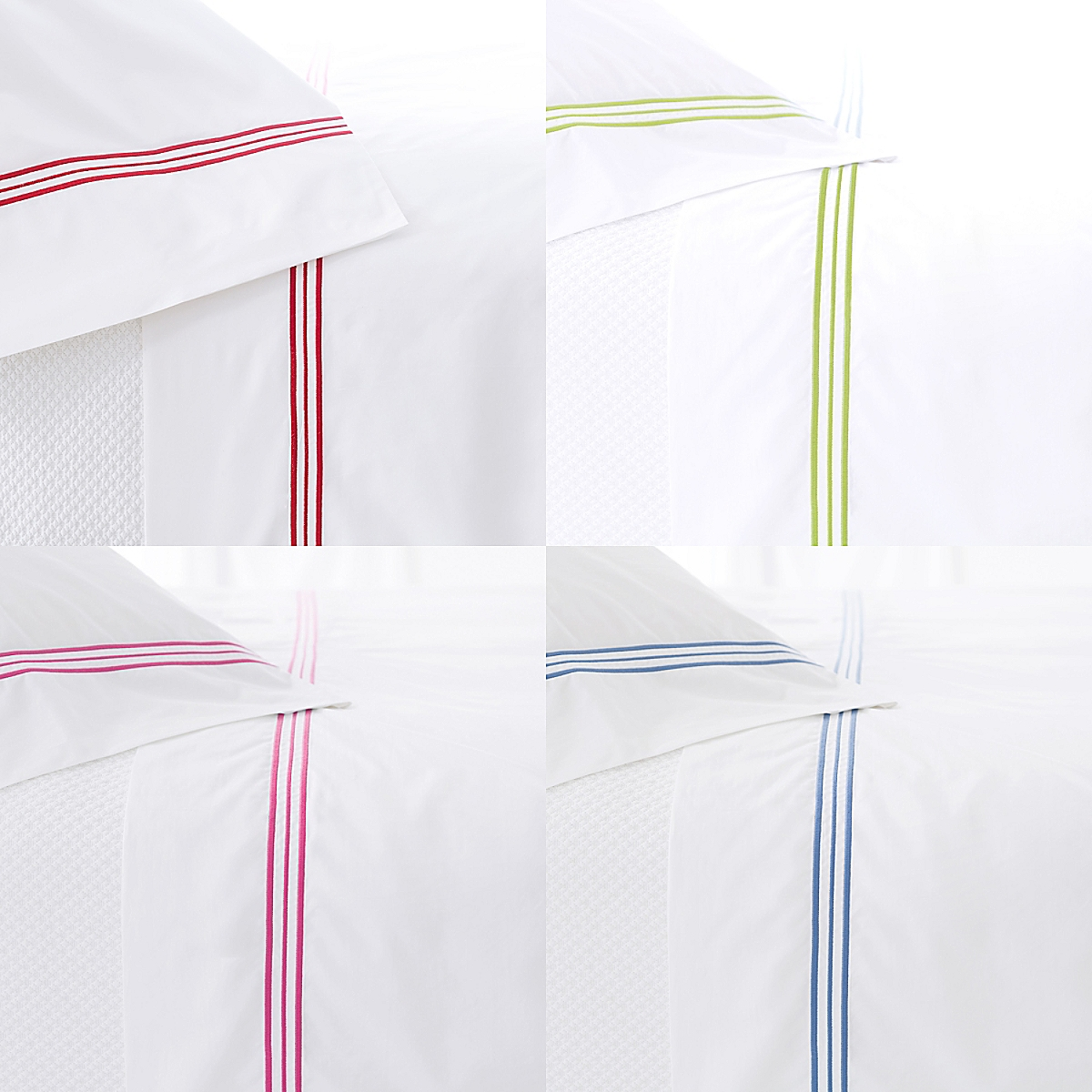 Trio Flat Sheet and Pillowcases