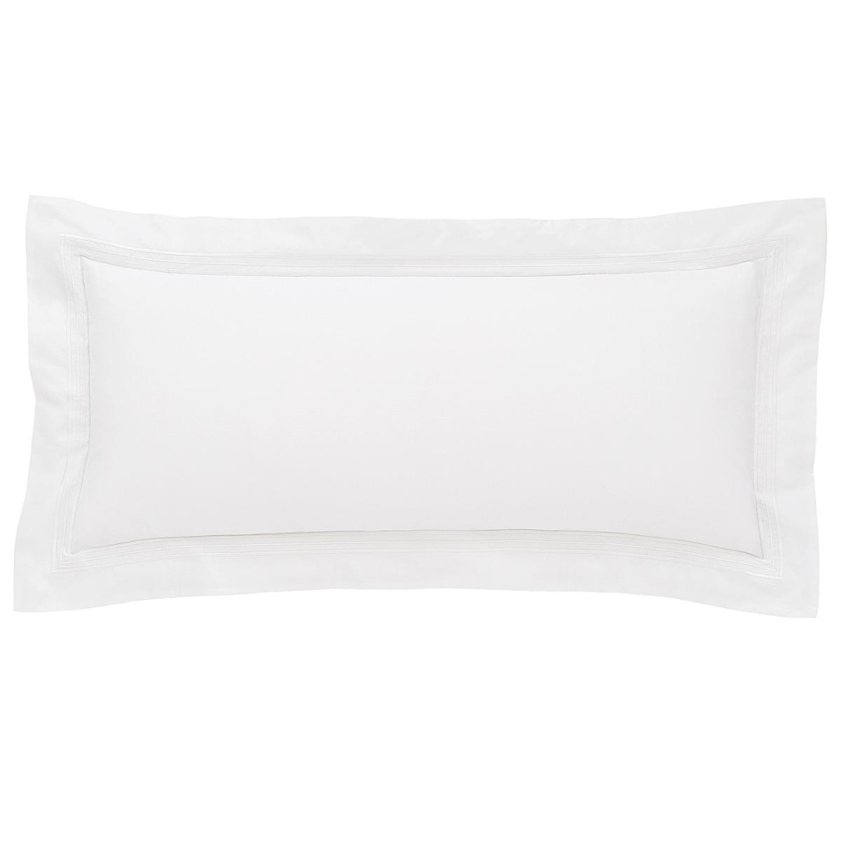 "Trio White Decorative Pillow 15""x35"""