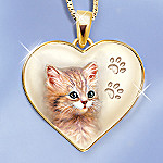 Cats Leave Paw Prints On Our Hearts Pendant Jewelry