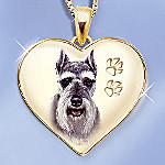 Keepsake Schnauzer Dog Pendant