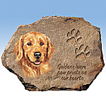 Linda Picken Golden Retrievers Leave Paw Prints On Our Hearts Collector Plate