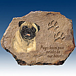 Linda Picken Pugs Leave Paw Prints On Our Hearts Collector Plate