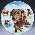 Linda Pickens Chocolate Lab Best Buddy Porcelain Collector Plate